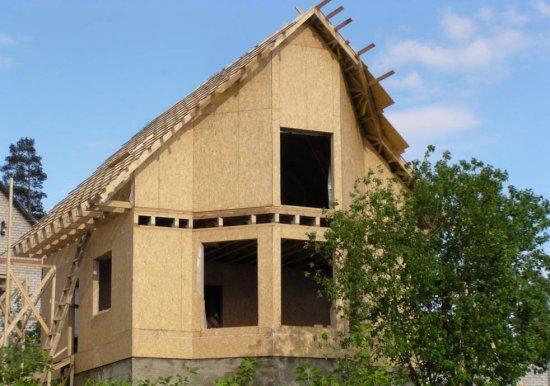 Каркасно-щитовой дом проект 9